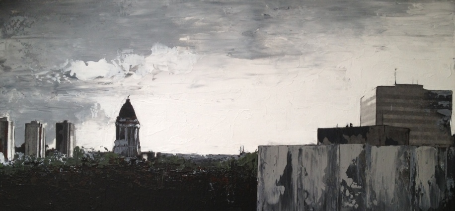 Winnipeg Skyline - Sold, Private Collection